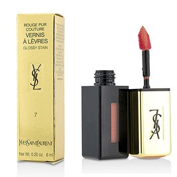 Yves Saint Laurent Rouge Pur Couture Vernis a Levres Brillo Satinado - # 7 Corail Aquatique  6ml/0.2oz