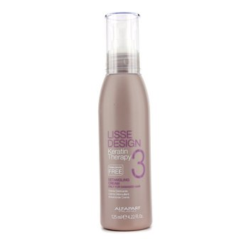 AlfaParf Lisse Design Keratin Therapy Detanling Cream - For Damaged Hair (Salon Size)  125ml/4.22oz