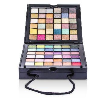 Cameleon MakeUp Kit 398: (72x Sombra, 2x Pó, 3x Blush, 8x Lipgloss, 1x Mini Rímel, 6x Aplicador)