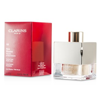 Clarins Skin Illusion Mineral & Plant Extracts Loose Powder Foundation (With Brush) - # 108 Sand  13g/0.4oz