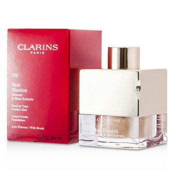 Clarins Skin Illusion Mineral & Plant Extracts Base Maquillaje Polvos Sueltos (Con Brocha)- # 109 Wheat  13g/0.4oz