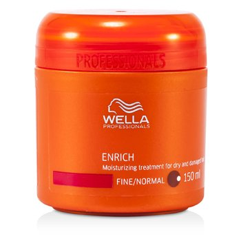 Wella Maska do włosów suchych i zniszczonych Enrich Moisturizing Treatment For Dry & Damaged Hair (Fine/Normal)  150ml/5oz