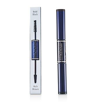 Estee Lauder Double Wear Two Tone Zero Smudge Eye Opening Mascara - # 01 Bold Black/Rich Brown  6ml/0.18oz