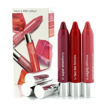 คลีนิกข์ ชุด Chubby Stick Trio Set (#07 Super Strawberry, #11 Two Ton Tomato, #13 Mighty Mimosa)  3x3g/0.1oz