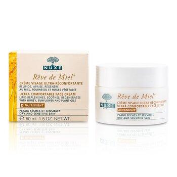 Nuxe Reve De Miel Ultra Comfortable Crema Rostro Noche (Piel Seca y Sensible)  50ml/1.7oz