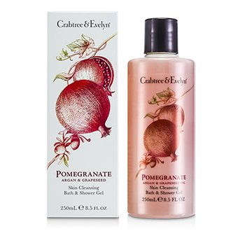 Crabtree & Evelyn Pomegranate, Argan & Grapeseed Bath & Shower Gel  250ml/8.5oz