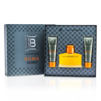 Laura Biagiotti Caixa Roma: Eau De Toilette Spray 75ml/2.5oz + Gel de banho & banheira 50ml/1.6oz x 2  3pcs