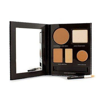 Laura Mercier Kit The Flawless Face Book - # Tan (1x Creme Compact, 1x Pó compacto c/ esponja, 1x corretivo Secret Camouflage...)  5pcs