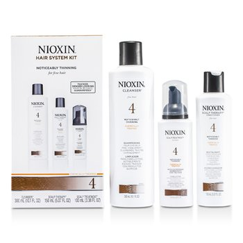 Nioxin System 4 System Kit  For Fine Hair, Chemically Treated, Noticeably Thinning Hair  3pcs