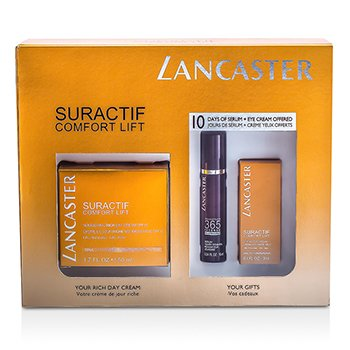 Lancaster Suractif Comfort Lift Set: Conform Rich Cream 50ml + Intense Serum 10ml + Eye Cream 3ml  3pcs