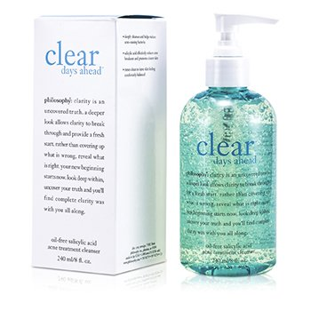 Philosophy Clear Days Ahead Oil-Free Salicylic Acid Acne Treatment Cleanser  240ml/8oz