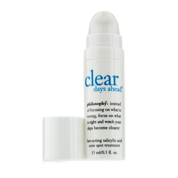 Philosophy Clear Days Ahead Fast-Acting Salicylic Acid Acne Spot Treatment  15ml/0.5oz