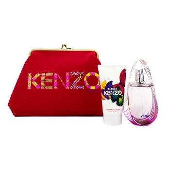 Kenzo Caixa Madly: Eau De Toilette Spray 50ml/1.7oz + Leite hidratante 50ml/1.7oz + Bolsa  2pcs+1pouch