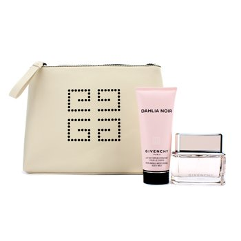 Givenchy Dahlia Noir Coffret: Eau De Toilette Spray 50ml/1.7oz + Susu Badan 100ml/3.3oz + Beg  2pcs+1pouch