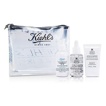 Kiehl's BB Cream Set: 24/7 Activated Moisturizer + Clearly Corrective Dark Spot Solution + BB Cream + Bag  3pcs+1bag