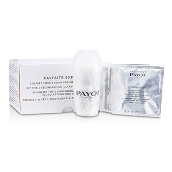Payot Parfaite Experience Coffret: Smoothing Revitalising Radiance Activating Mask 15g/0.52oz + Facial Cleansing Scrub 10ml/0.33oz + Modelling Decongesting Balm 10ml/0.33oz  15pcs