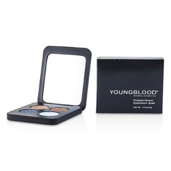 Youngblood Sombra de Ojos Mineral Compacta Cuádruple - Glamour Eyes  4g/0.14oz