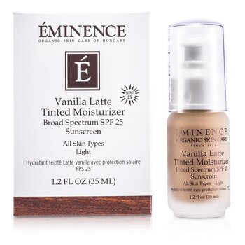 Eminence Vanilla Latte Hidratante con Color Espectro Amplio SPF 25 Sunscreen - Light  35ml/1.2oz