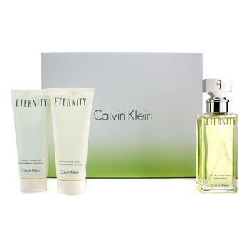 Calvin Klein Eternity Kofre: EDP Sprey 100ml/3.4oz + Vücut Losyonu 100ml/3.4oz + Duş Jeli 100ml/3.4oz  3pcs