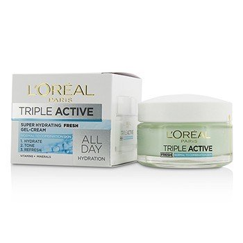 L'Oreal Triple Active Fresh Ultra-Hydrating Gel-Cream (For Normal & Combination Skin)  50ml/1.7oz