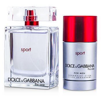 Dolce & Gabbana The One Sport Coffret: Eau De Toilette Spray 100ml/3.3oz + Deodorant Stick 75ml/2.4oz  2pcs