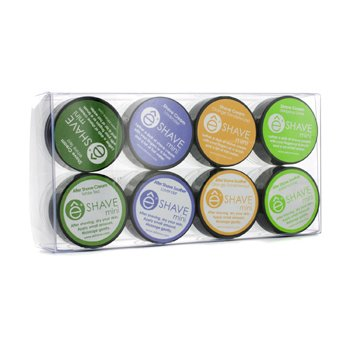 EShave Assorted Mini Kit: 4x Shave Cream + 1x After Shave Cream + 3x After Shave Soother  8pcs