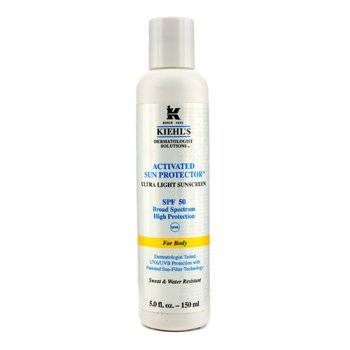 Kiehl's Activated Sun Protector Ultra Light Sunscreen SPF 50 (Untuk Tubuh) - Tabir Surya  150ml/5oz
