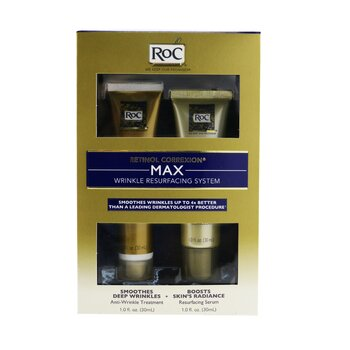 ROC Retinol Correxion Max Wrinkle Resurfacing System: Anti-Wrinkle Treatment 30ml + Resurfacing Serum 30ml  2pcs