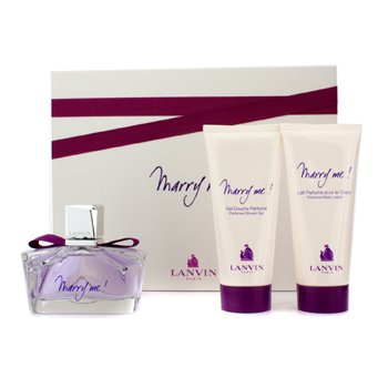 Lanvin Marry Me Coffret: Eau De Parfum Spray 75ml/2.5oz + Body Lotion 100ml/3.3oz + Shower Gel 100ml/3.3oz  3pcs