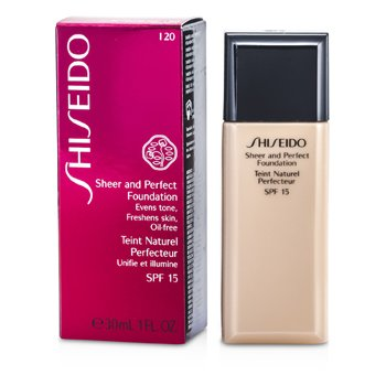 Shiseido Sheer & Perfect Foundation SPF 15 - # I20 Natural Light Ivory  30ml/1oz