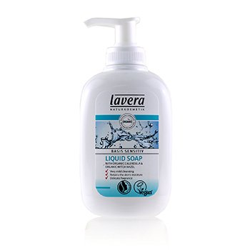 Lavera Basis Sensitiv Liquid Soap with Organic Calendula & Organic Witch Hazel (For All Skin Types)  300ml/10.2oz