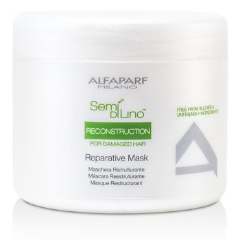 AlfaParf Semi Di Lino Reconstruction Reparative Mask (For Damaged Hair)  500ml/16.9oz