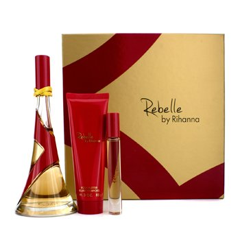 Rihanna Rebelle Coffret: Eau De Parfum Spray 100ml/3.4oz + Body Butter 85g/3oz + Rollerball 6ml/0.2oz  3pcs