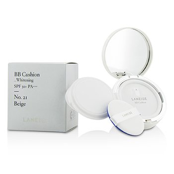 Laneige Base BB Acolchada (Blanqueadora) SPF 50 With Repuesto Extra - # No. 21 Natural Beige  2x15g/0.5oz