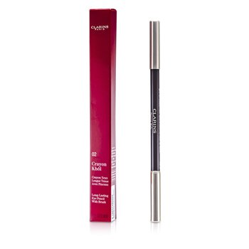 Clarins Długotrwała kredka do oczu z pędzelkiem Long Lasting Eye Pencil with Brush - # 02 Intense Brown  1.05g/0.037oz