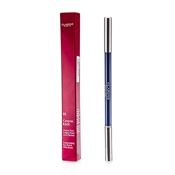 Clarins Long Lasting Eye Pencil with Brush - # 03 Intense Blue  1.05g/0.037oz