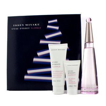 Issey Miyake L'Eau D'Issey Florale Coffret: Eau De Toilette Spray 90ml/3oz + Loción Corporal 75ml/2.5oz + Gel de Ducha 30ml/1oz  pcs