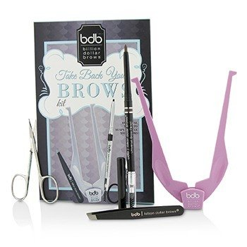 Billion Dollar Brows Kit Para SobrancelhaTake Back: 1x Brow Buddy, 1x Lápis, 1x Pinça, 1x Tesoura  4pcs
