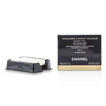 Chanel Vitalumiere Compact Douceur Lightweight Compact Makeup SPF 10 (Refill) - # 22 Beige Rose  13g/0.45oz