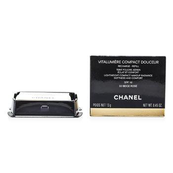 Chanel Vitalumiere Compact Douceur Lightweight Compact Makeup SPF 10 (Refill) - # 32 Beige Rose  13g/0.45oz