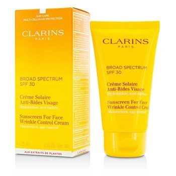 Clarins Sunscreen for Face Wrinkle Control Cream Broad Spectrum SPF 30  75ml/2.6oz