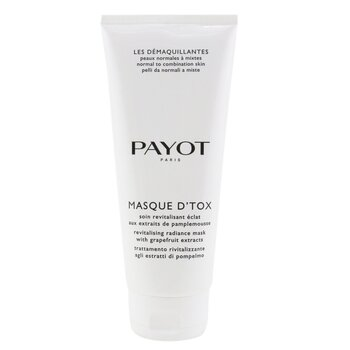 Payot Les Demaquillantes Masque D'Tox Detoxifying Radiance Mask - Para Pele Normal e Mista (Tamanho profissional)  200ml/6.7oz