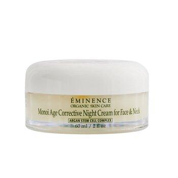 Eminence Monoi Crema de Noche Correctiva de Edad Para Rostro & Cuello (Piel Normal a Seca, Especialmente Madura)  60ml/2oz