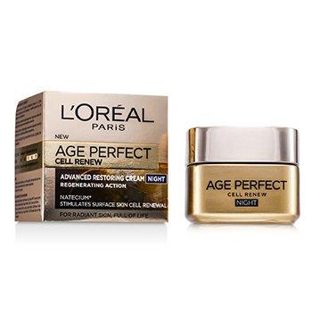 L'Oreal کرم شب ترمیم کننده و ضدپیری Age Perfect Cell Renew  50ml/1.7oz