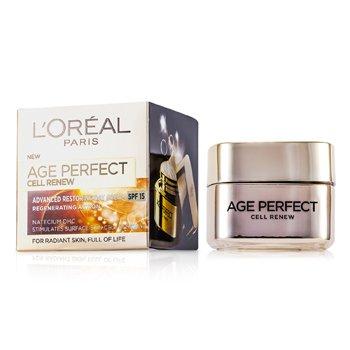 L'Oreal کرم روز ترمیم کننده و ضدپیری Age Perfect Cell Renew با SPF15  50ml/1.7oz