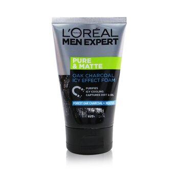 L'Oreal Men Expert Pure & Matte Icy Effect Charcoal Espuma Negra  100ml/3.4oz