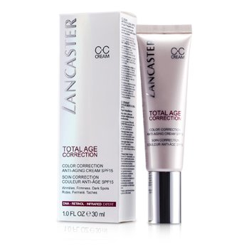 Lancaster Przeciwzmarszczkowy krem z filtrem ochronnym korygujący przebarwienia Total Age Correction Color Correction Anti-Aging Cream SPF15 377268  30ml/1oz