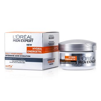 L'Oreal Men Expert Hydra Energetic Intensive 24HR Hydration (For Dry / Sensitive Skin) (Jar)  50ml/1.7oz