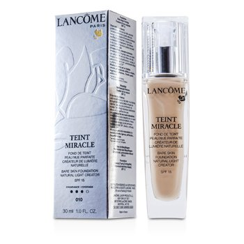 Lancome Teint Miracle Bare Skin Base Creadora de Luz Natural SPF 15 - # 010 Beige Porcelaine  30ml/1oz