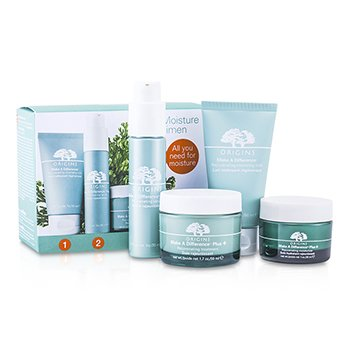 Origins Make A Difference Régimen Hidratante Profundo: Leche Limpiadora 50ml + Suero 30ml + Tratamiento 50ml + Hidratante 30ml  4pcs
